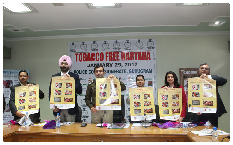 Release of posters for Tobacco free Haryana